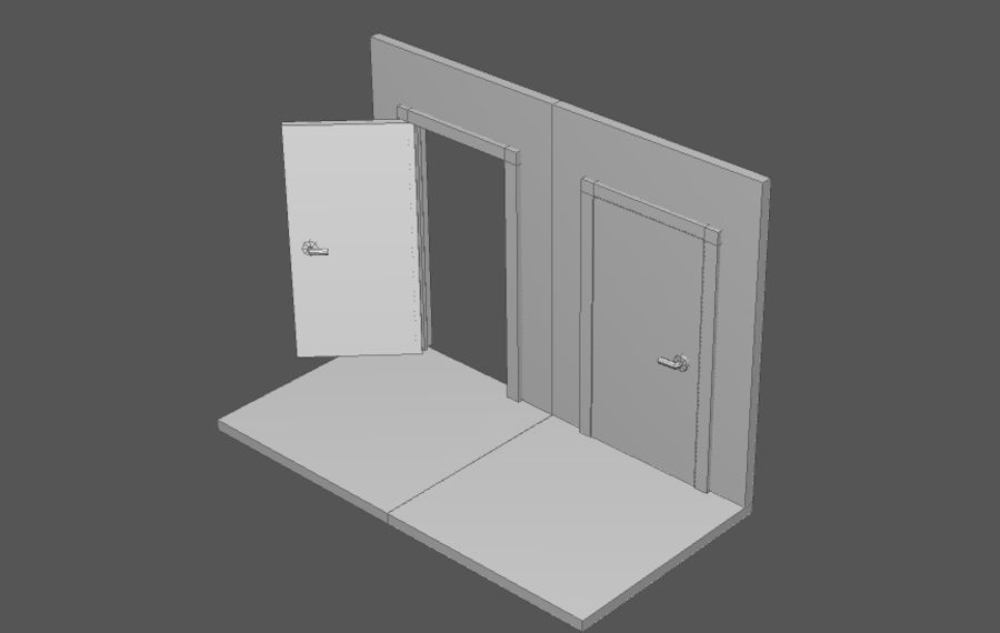 House interior items pack (Base) royalty-free 3d model - Preview no. 2