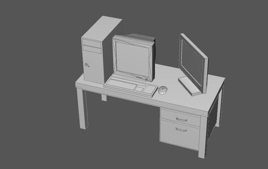 Комплект предметов интерьера дома (База) royalty-free 3d model - Preview no. 15