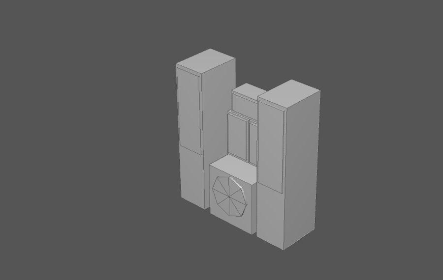 Комплект предметов интерьера дома (База) royalty-free 3d model - Preview no. 18