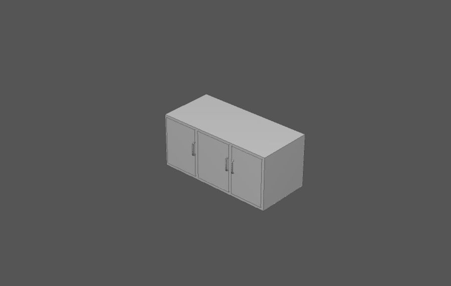 Комплект предметов интерьера дома (База) royalty-free 3d model - Preview no. 4
