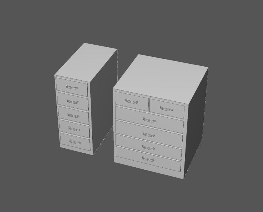 Комплект предметов интерьера дома (База) royalty-free 3d model - Preview no. 8