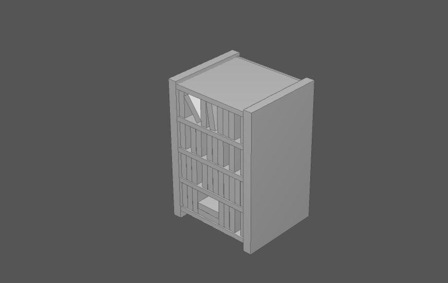 Комплект предметов интерьера дома (База) royalty-free 3d model - Preview no. 6