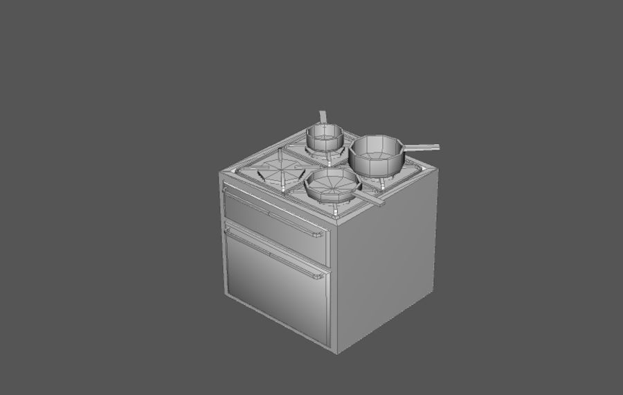 Комплект предметов интерьера дома (База) royalty-free 3d model - Preview no. 16