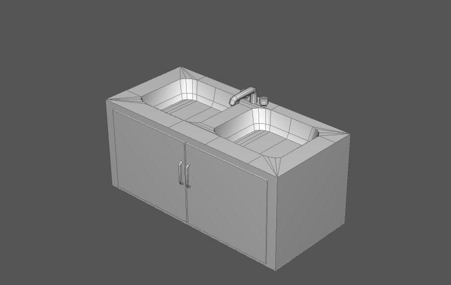 Комплект предметов интерьера дома (База) royalty-free 3d model - Preview no. 13