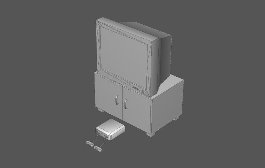 House interior items pack (Base) royalty-free 3d model - Preview no. 11