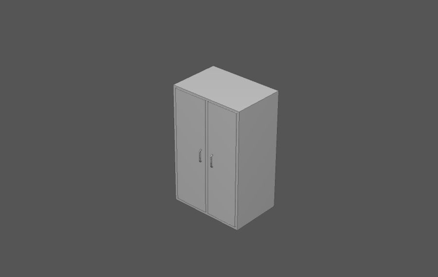 House interior items pack (Base) royalty-free 3d model - Preview no. 20