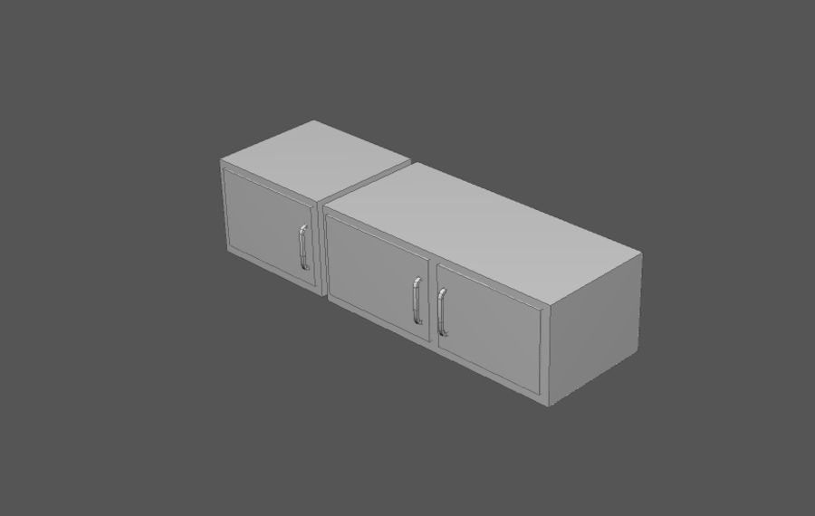 Комплект предметов интерьера дома (База) royalty-free 3d model - Preview no. 12