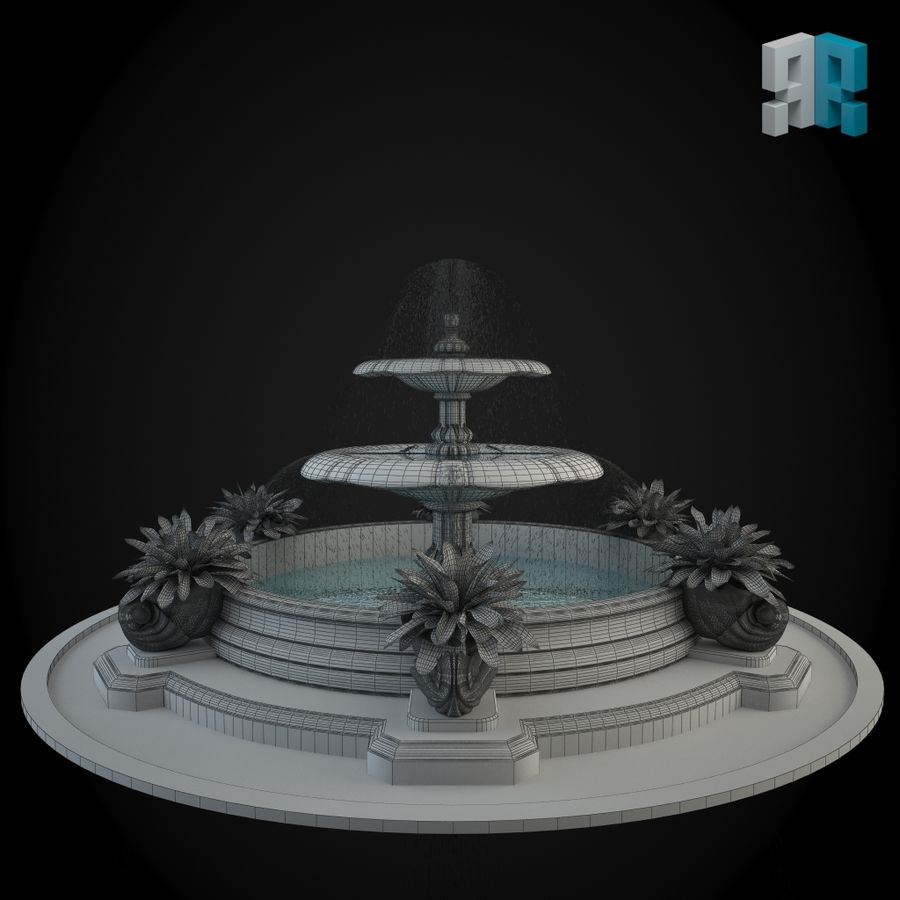 Brunnen 022 royalty-free 3d model - Preview no. 4