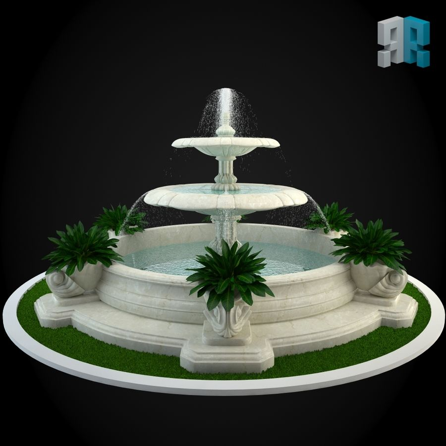 Brunnen 022 royalty-free 3d model - Preview no. 3