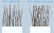 Driftwood screen 3d model