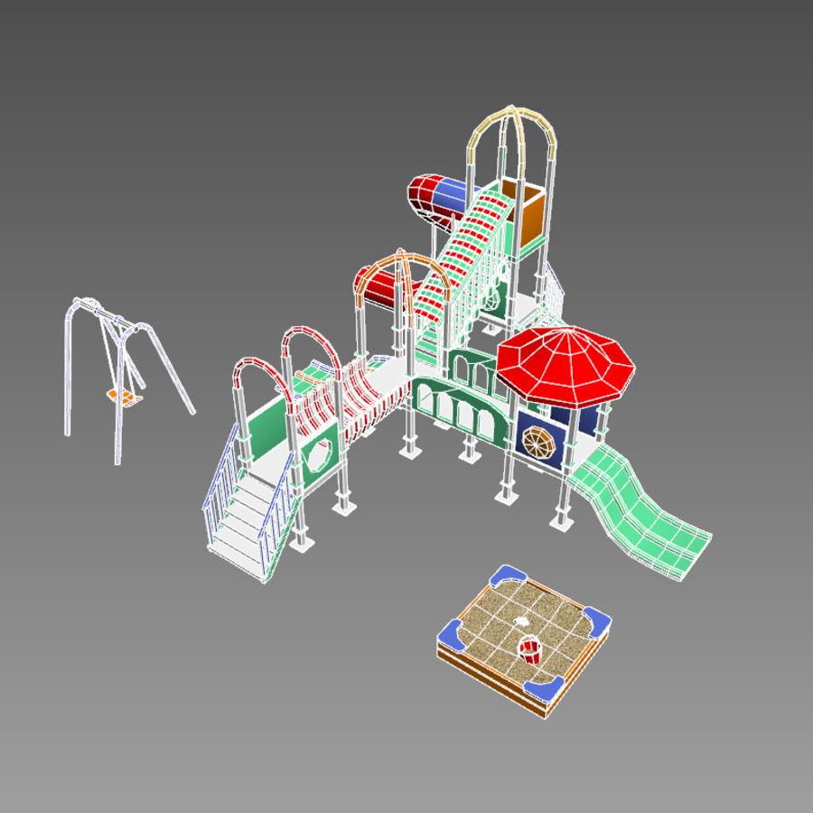 Speeltuin zandbak laag poly royalty-free 3d model - Preview no. 6