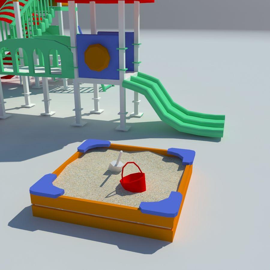 Speeltuin zandbak laag poly royalty-free 3d model - Preview no. 4