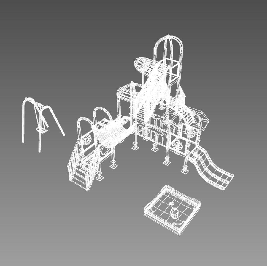 Speeltuin zandbak laag poly royalty-free 3d model - Preview no. 7