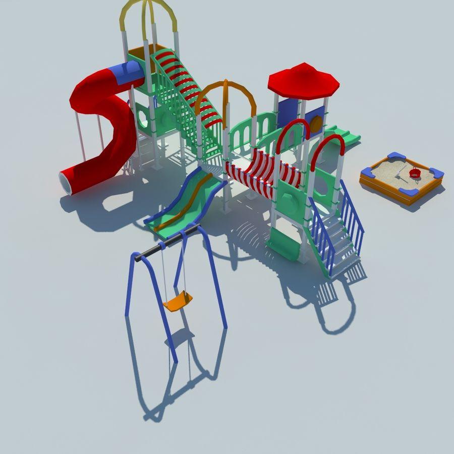 Speeltuin zandbak laag poly royalty-free 3d model - Preview no. 3