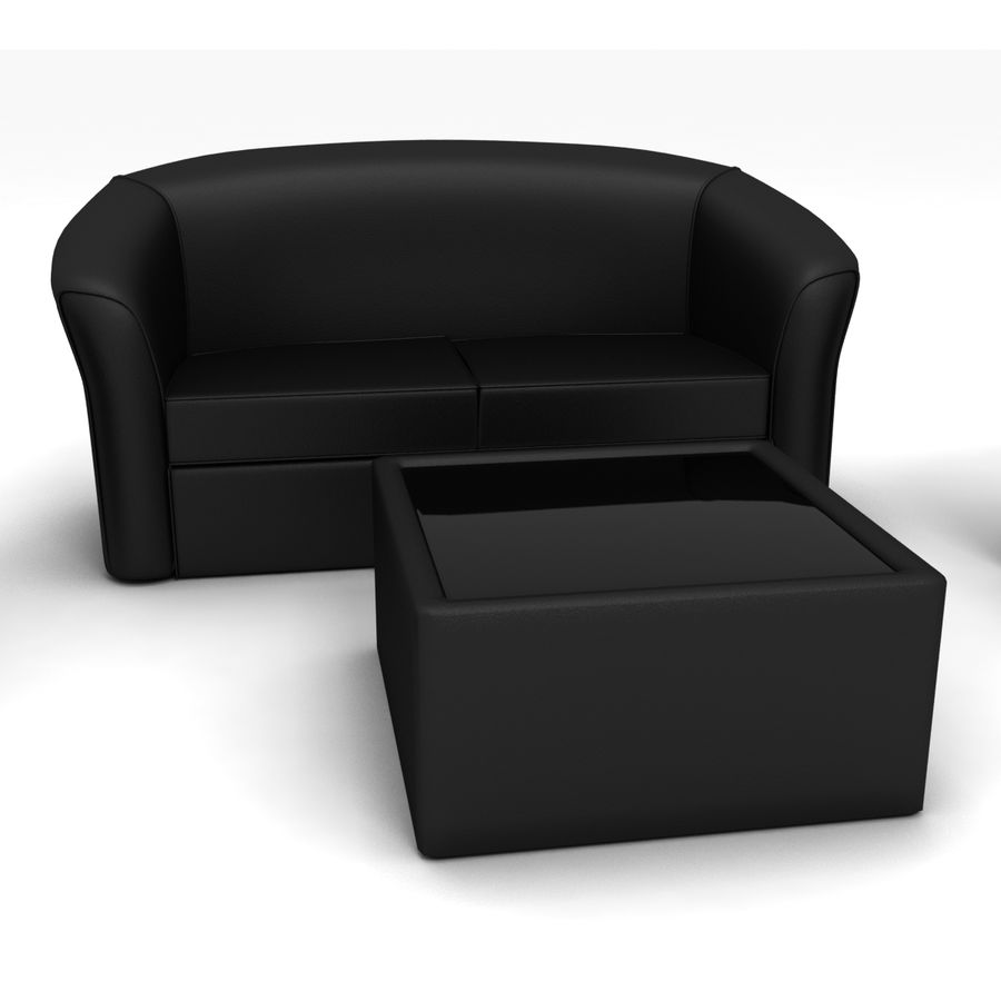 living room royalty-free 3d model - Preview no. 2