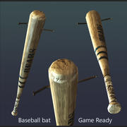 baseball bat with nail 3d model