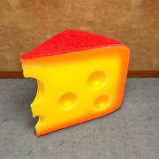 Cheese very detailed Piece of 3d model