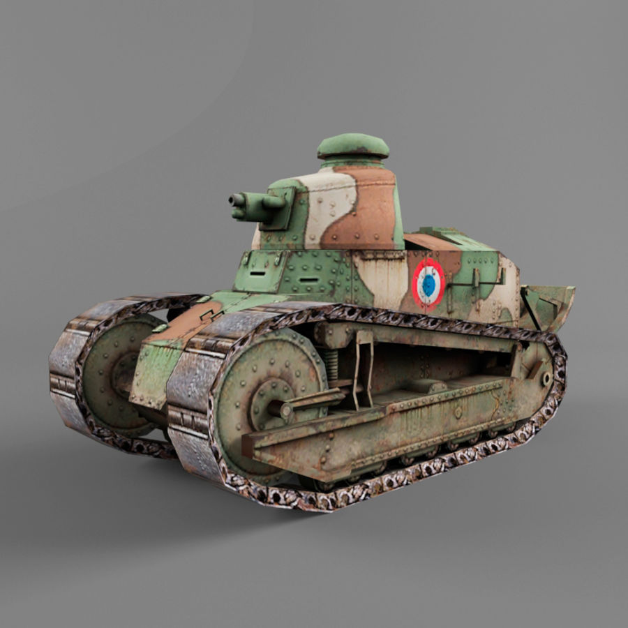 Renault FT royalty-free 3d model - Preview no. 1