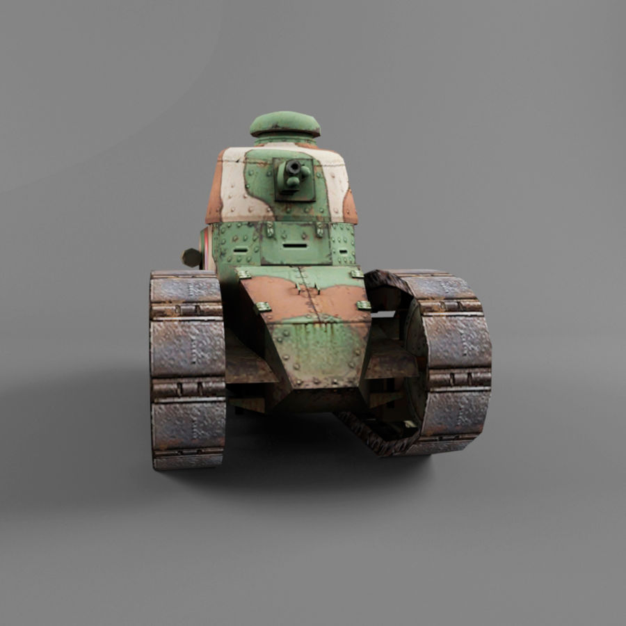 Renault FT royalty-free 3d model - Preview no. 8