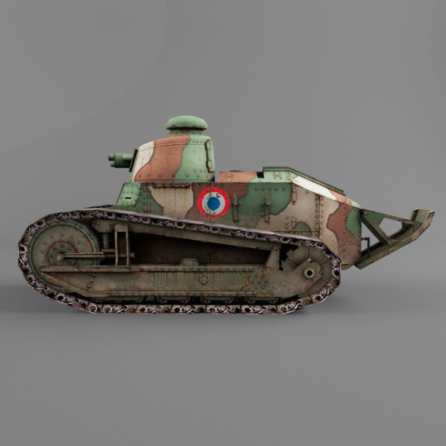 Renault FT royalty-free 3d model - Preview no. 2