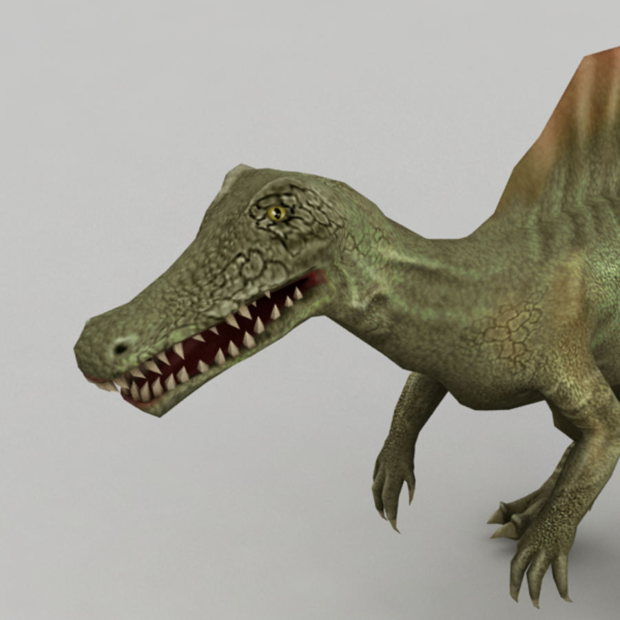 Spinosaurus truqué royalty-free 3d model - Preview no. 6