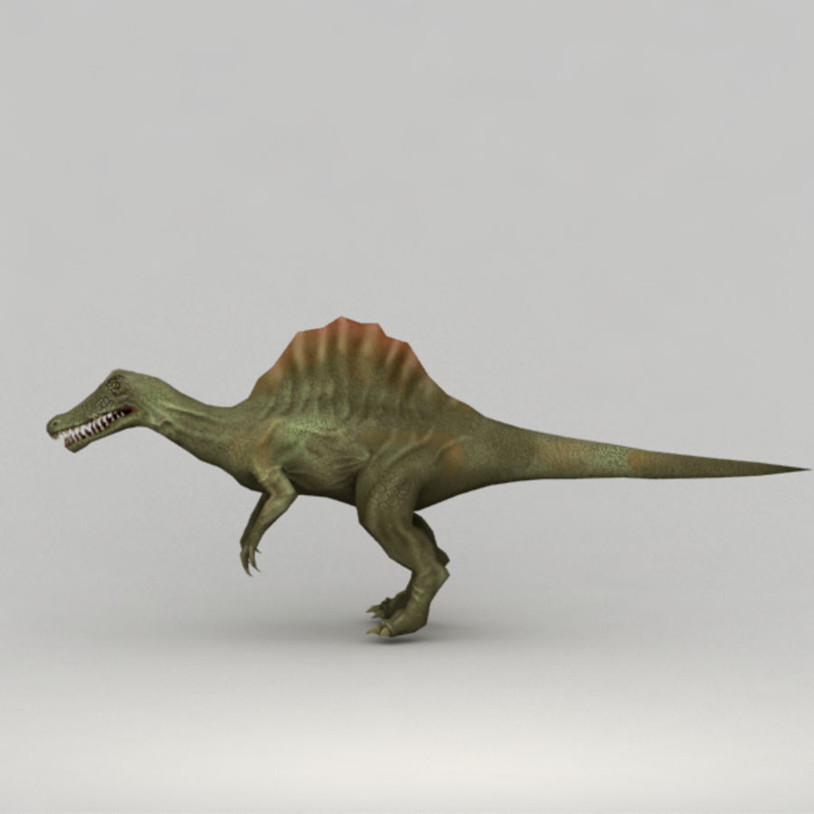 Spinosaurus truqué royalty-free 3d model - Preview no. 4