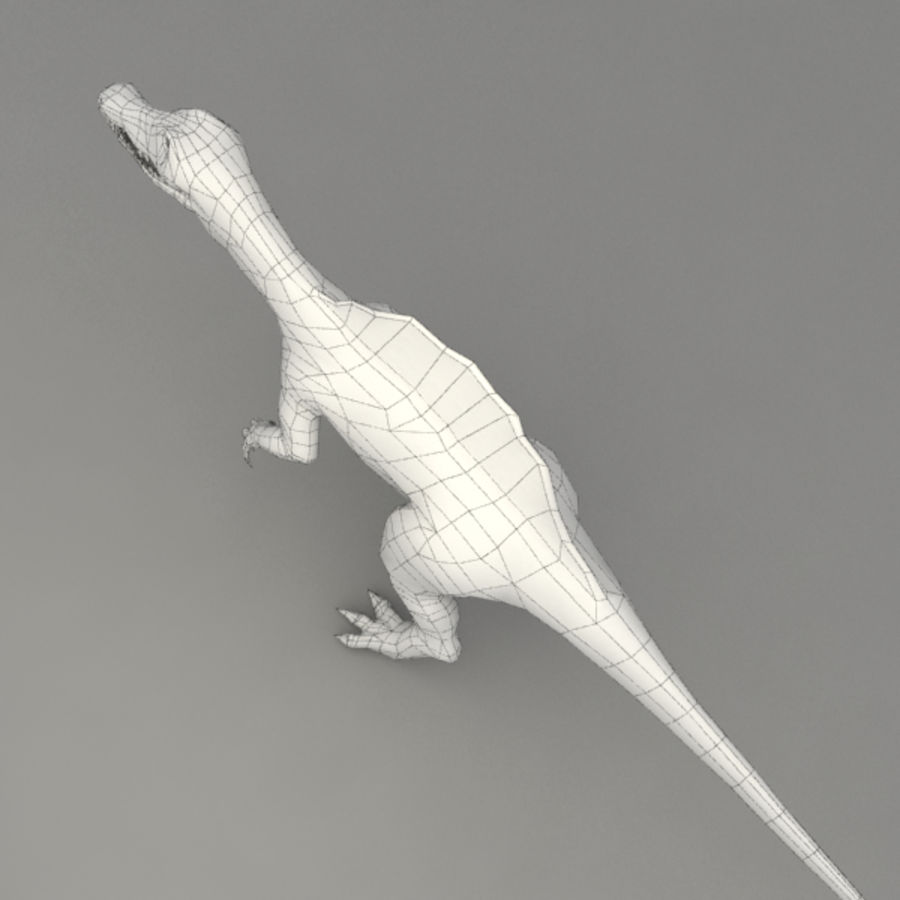 Spinosaurus truqué royalty-free 3d model - Preview no. 11