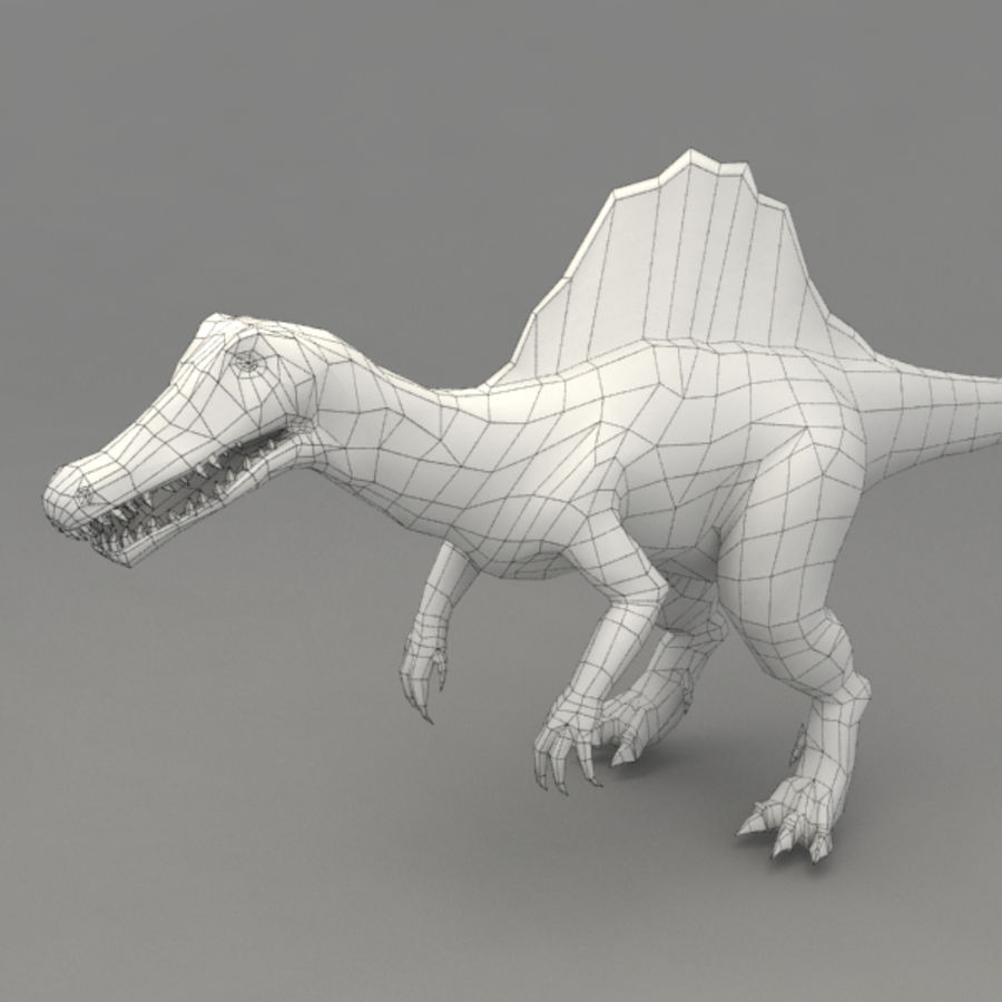 Spinosaurus truqué royalty-free 3d model - Preview no. 8