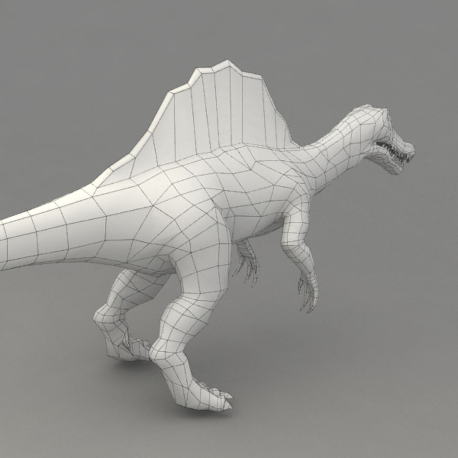 Spinosaurus truqué royalty-free 3d model - Preview no. 9