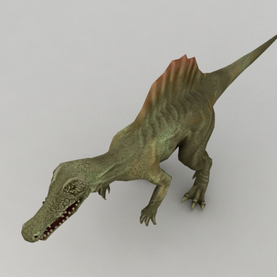 Spinosaurus truqué royalty-free 3d model - Preview no. 5