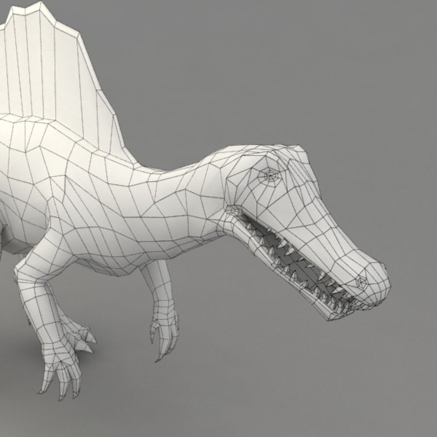 Spinosaurus truqué royalty-free 3d model - Preview no. 10