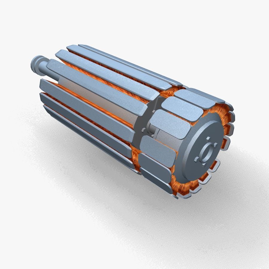 Motor elétrico altamente detalhado royalty-free 3d model - Preview no. 4