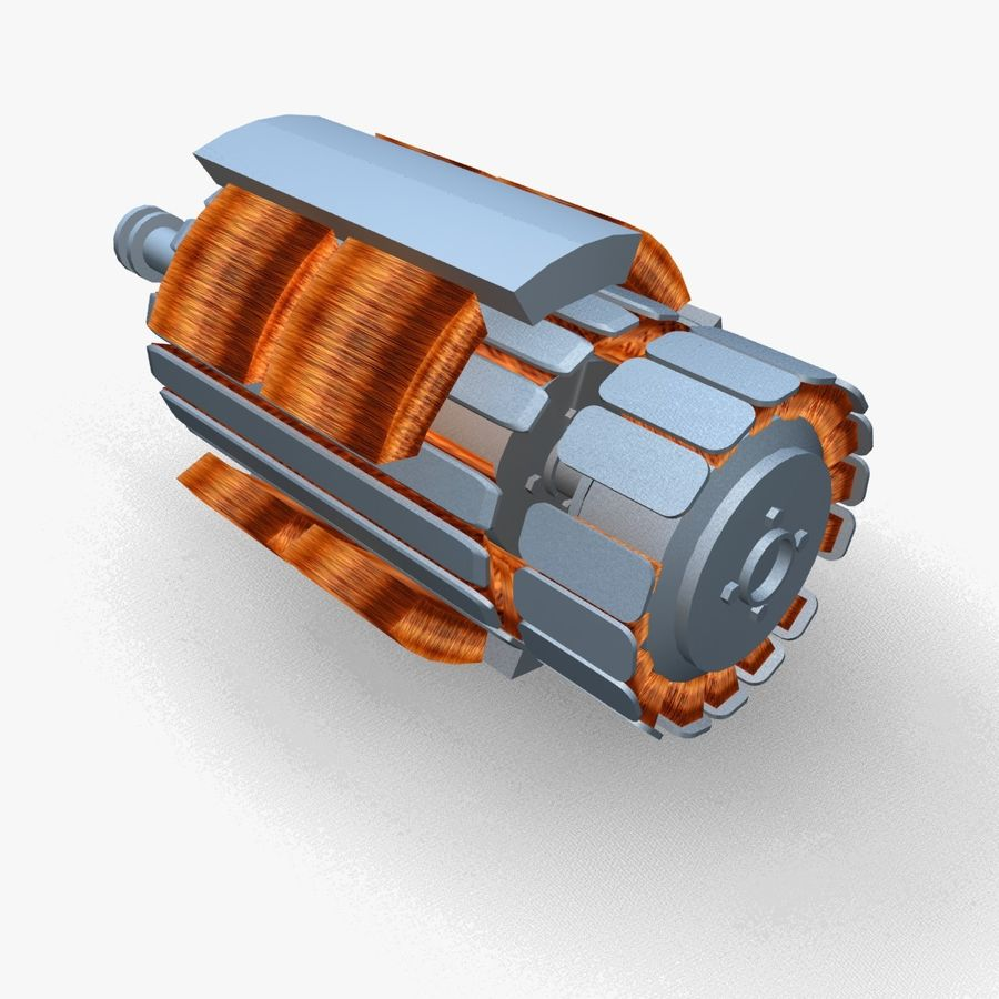 Motor elétrico altamente detalhado royalty-free 3d model - Preview no. 3