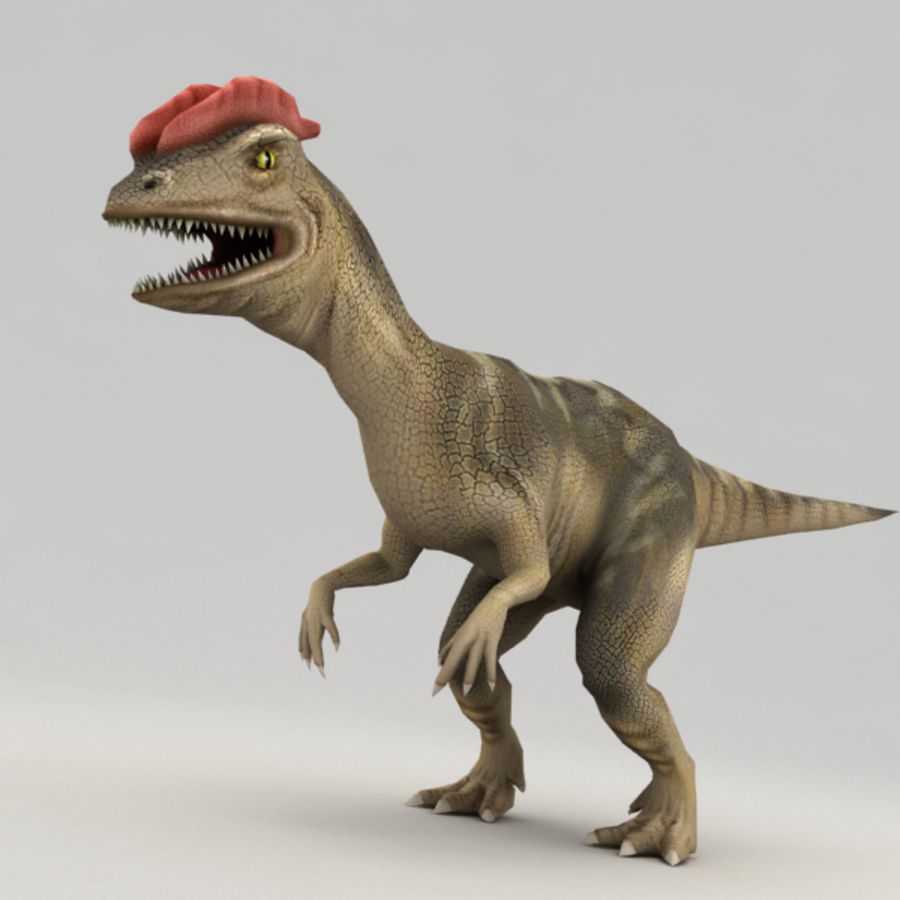 Dilophosaurus rigged royalty-free 3d model - Preview no. 6