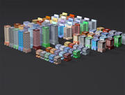 Downtown Buildings 3d model
