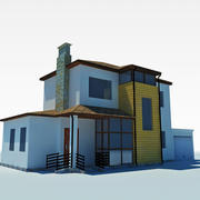 low poly cottage house 3 3d model