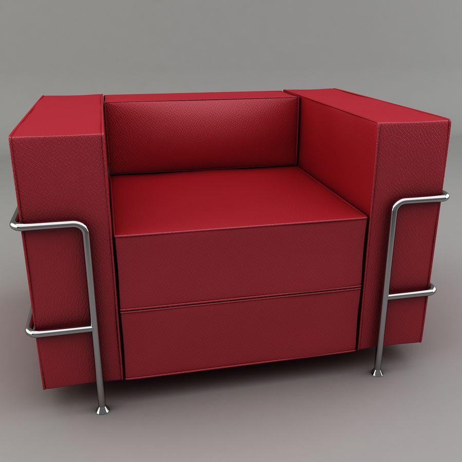 Koltuk sandalye royalty-free 3d model - Preview no. 2