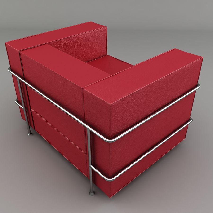 Koltuk sandalye royalty-free 3d model - Preview no. 3