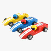 Voitures de courses 3d model