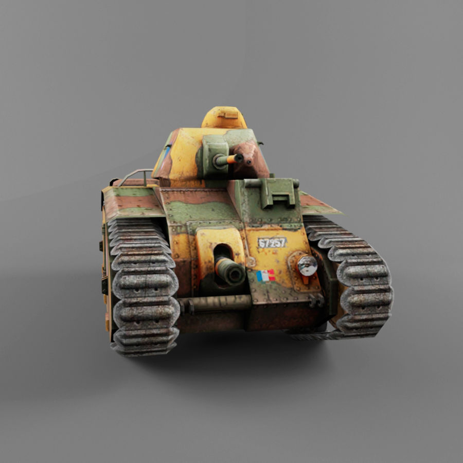 B1 heavy tank royalty-free 3d model - Preview no. 7