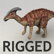 Parasaurolophus rigged 3d model