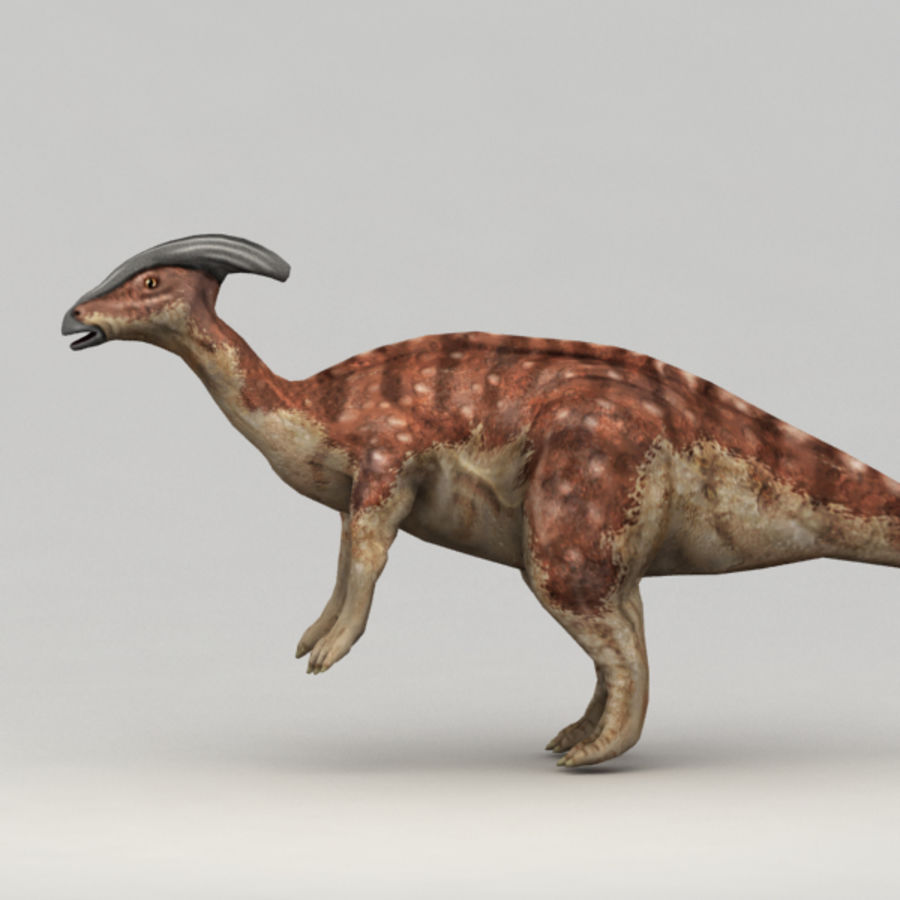Parasaurolophus rigged royalty-free 3d model - Preview no. 4