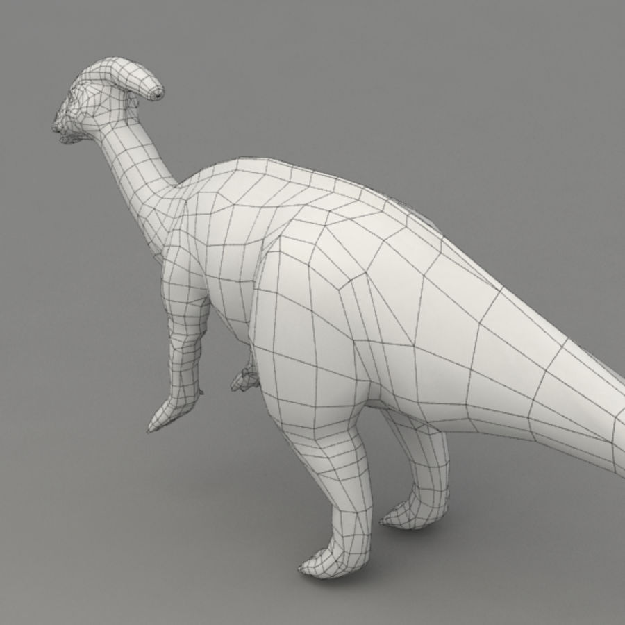 Parasaurolophus rigged royalty-free 3d model - Preview no. 10
