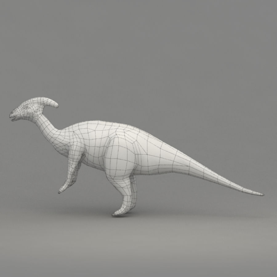 Parasaurolophus rigged royalty-free 3d model - Preview no. 11