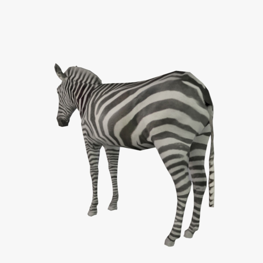 Zebra (low poly) 3D Model $10 -  obj  max - Free3D
