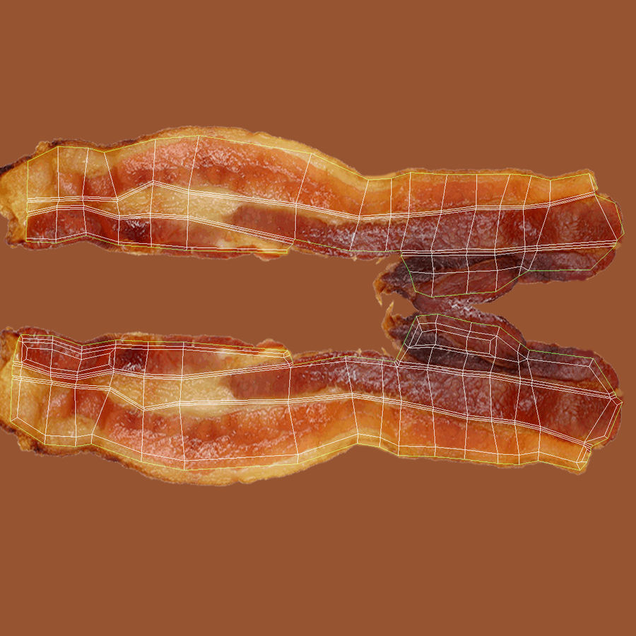 Bacon royalty-free 3d model - Preview no. 14