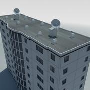 low poly condo multistorey building 1 3d model
