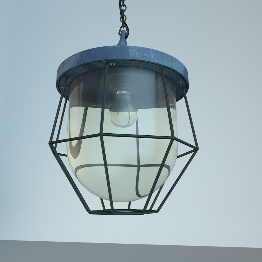 Industrial Lamp royalty-free 3d model - Preview no. 1