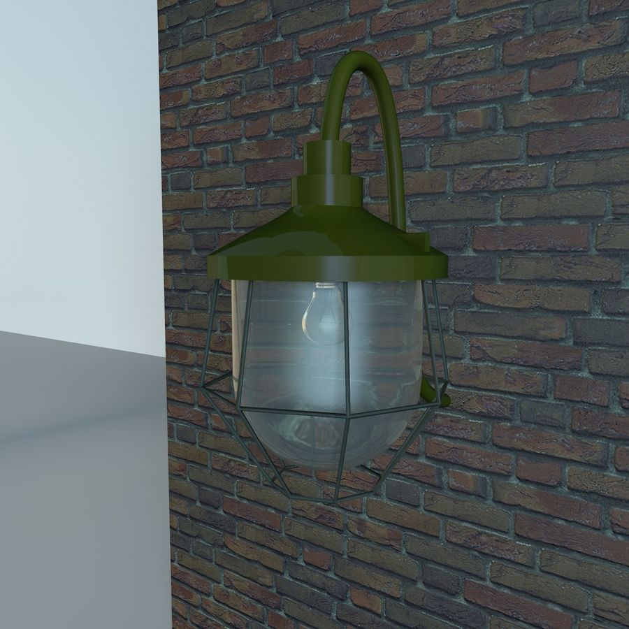 Industrial Lamp royalty-free 3d model - Preview no. 5