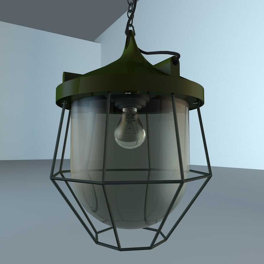 Industrial Lamp royalty-free 3d model - Preview no. 4